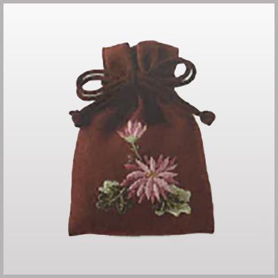 遺石保存用巾着袋・新しい布地・刺しゅうなし